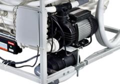 Tiché a vysokovýkonné vodné čerpadlo: 450 l/min.